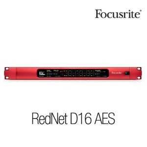 [Focusrite] RedNet D16 AES 16 Ch AES3 I/O for Dante networks Ethernet Audio Interfac 수입정품 서울시내 무료퀵배송
